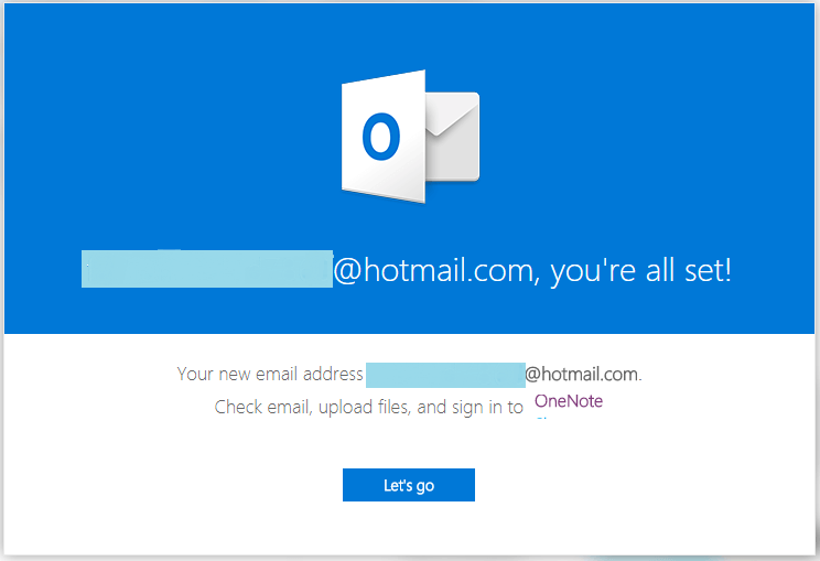 Hotmail live sign up welcome message 17