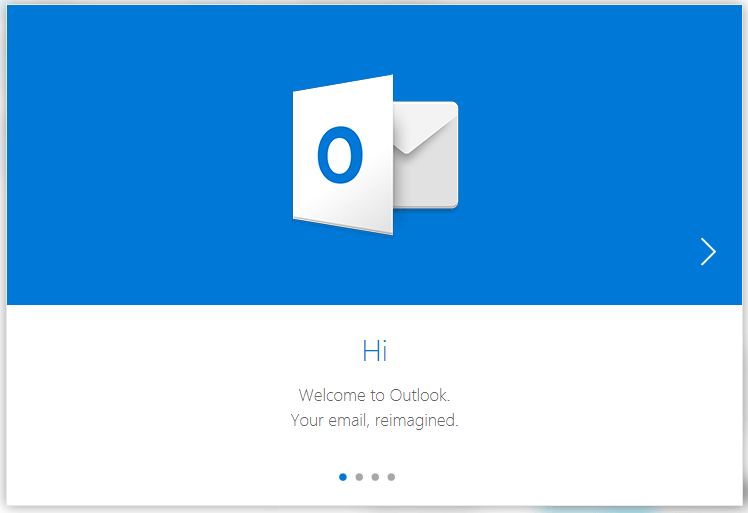 Hotmail outlook welcome screen 13